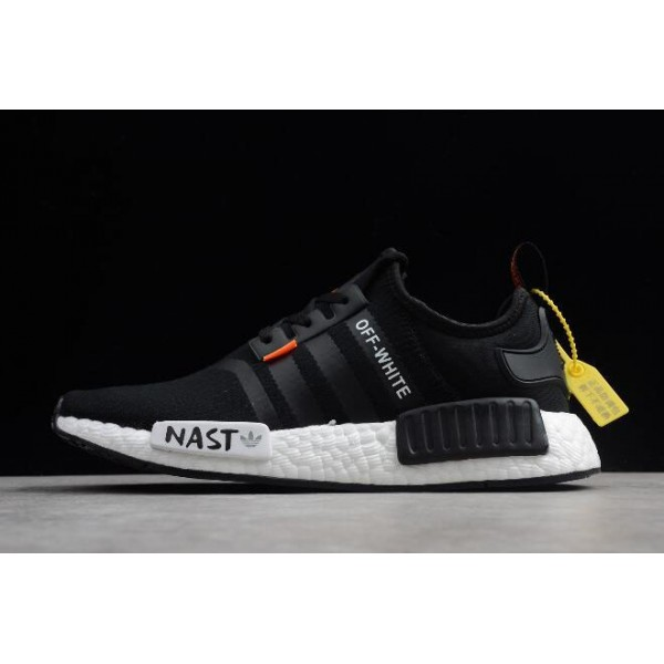 Men's/Women's Off/White x Adidas NMD XR1 PK BOOST Black White