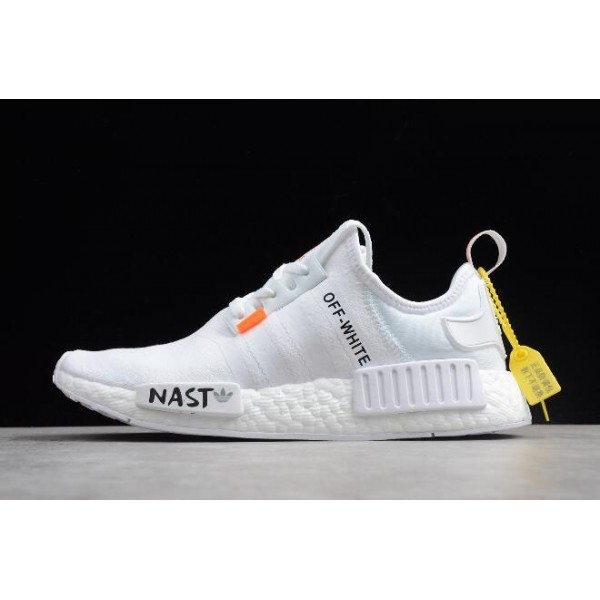 Men's/Women's Off/White x Adidas NMD XR1 PK BOOST White Black
