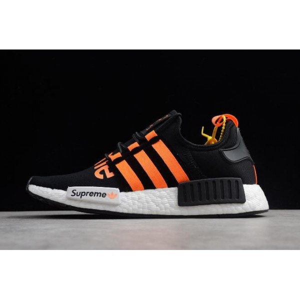 Men's/Women's Supreme x Adidas NMD R1 Black/Orange/White