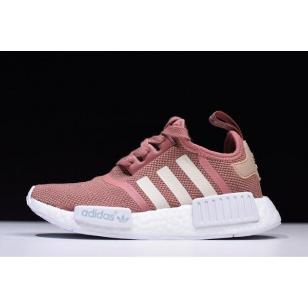 Women's Adidas NMD R1 Raw Pink Rose Salmon Peach Shoes