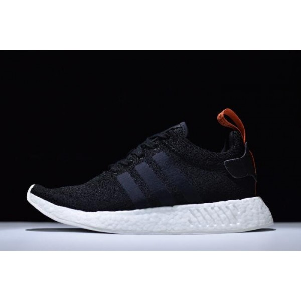 Men's Adidas NMD R2 Primeknit Future Harvest Black/Orange