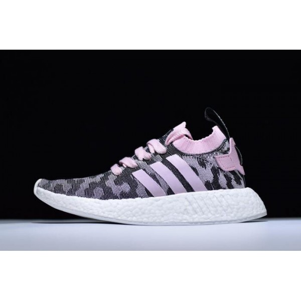 Men's/Women's Adidas NMD R2 Pink Black BY9521