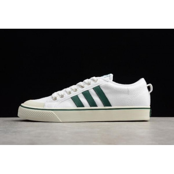Men's/Women's Adidas Nizza White Green Canvas and Shoes