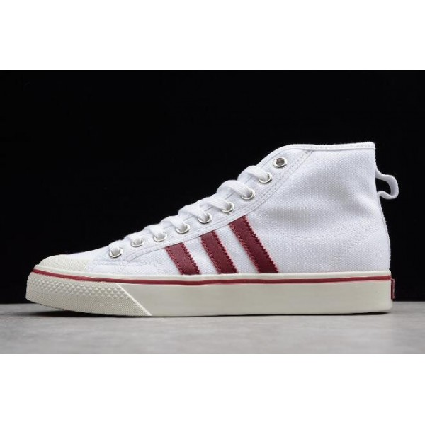 Men's/Women's New Adidas Nizza High/Top White/Red and