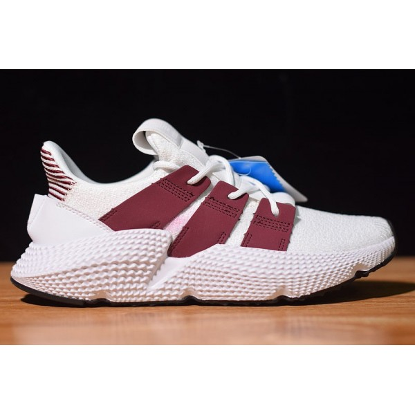 Men's/Women's Adidas Originals Prophere Cloud White/Noble Maroon
