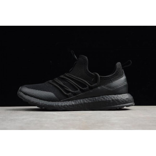 Men's New Adidas Pure Boost Triple Black Running Shoes