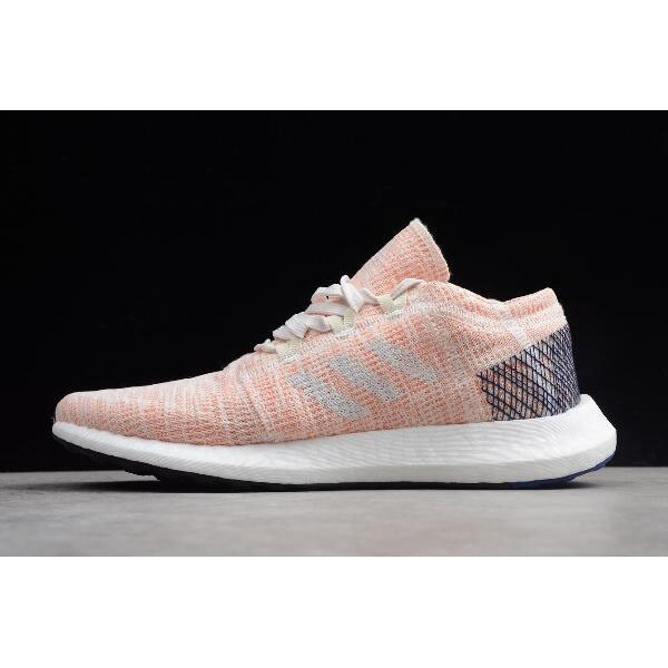 Women's Adidas Pure Boost GO Pink/White/Blue Shoes