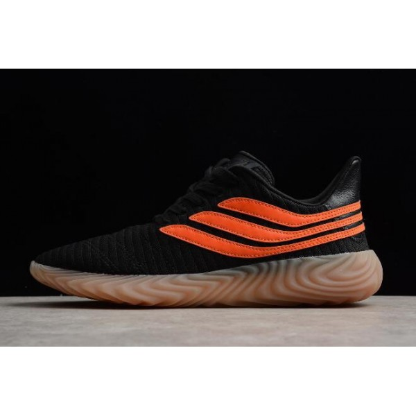 Men's New Adidas Sobakov Black/Orange/Gum