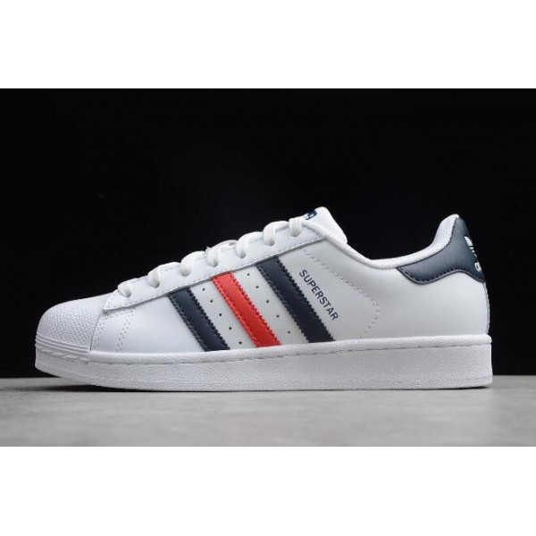 Men's/Women's Adidas Originals Superstar Foundation White Navy Red