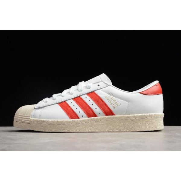 Men's Adidas Originals Superstar OG White/Red Shoes