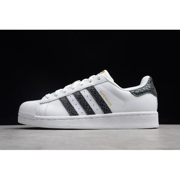 Men's/Women's Adidas Originals Superstar Snake Stripes White/Black/Gold