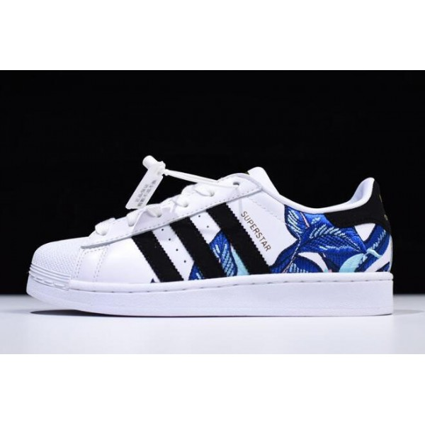 Men's/Women's Adidas Superstar Floral Graphic White/Black/Metallic Gold