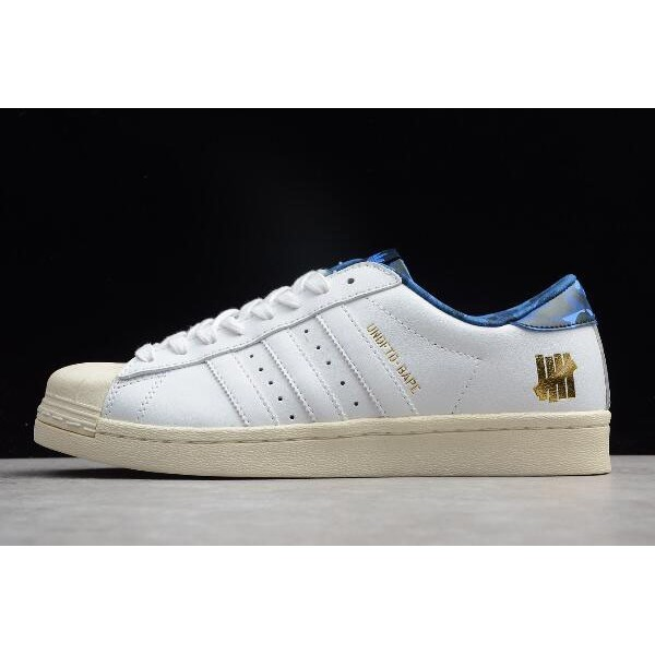 Men's UNDFTD x BAPE x Adidas Superstar 80v White