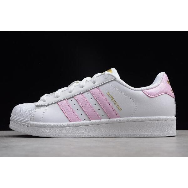 Women's Adidas Superstar White/Pink/Metallic Gold