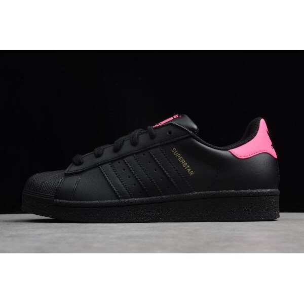 Women's Adidas Superstar Black/Pink/Metallic Gold