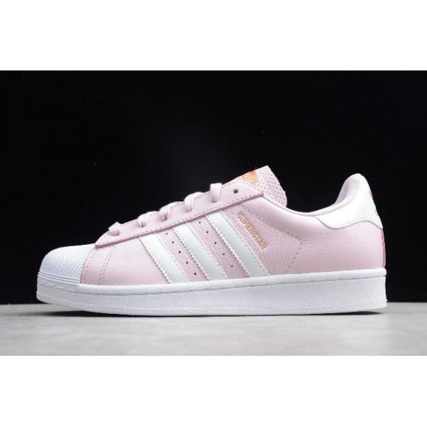 Women's Adidas Superstar Pink/White/Metallic Gold