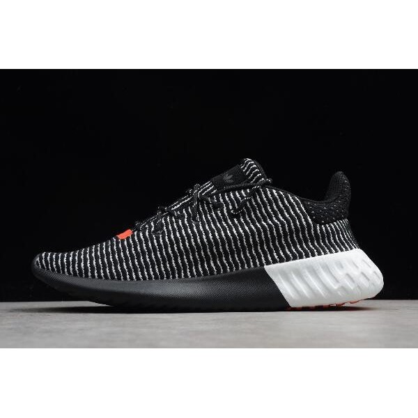 Men's/Women's Adidas Originals Tubular Dusk Black/White/Solar Red