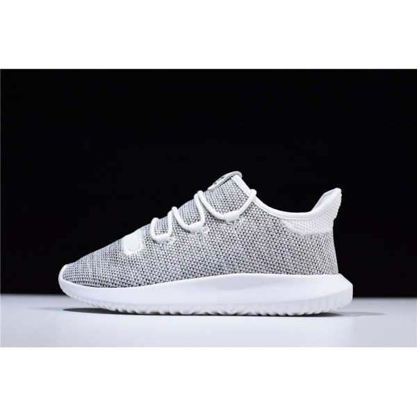 Men's/Women's Adidas Tubular Shadow Knit Grey White Shoes
