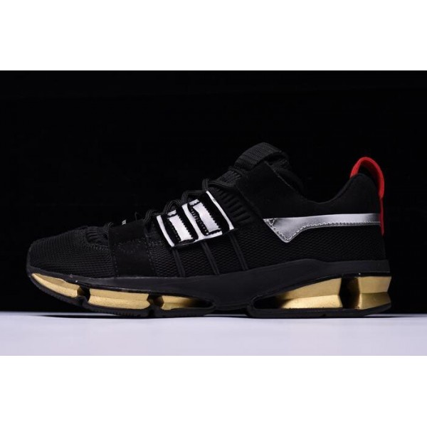 Men's New Adidas Consortium Twinstrike ADV Black Gold Silver Red