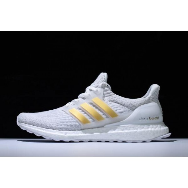 Men's New Adidas Ultra Boost 3.0 White Gold