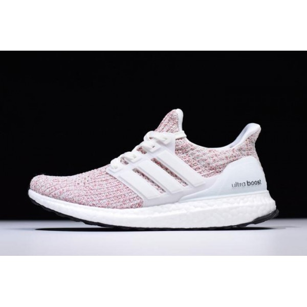 Men's/Women's New Adidas Ultra Boost 4.0 Candy Cane White/Scarlet Red