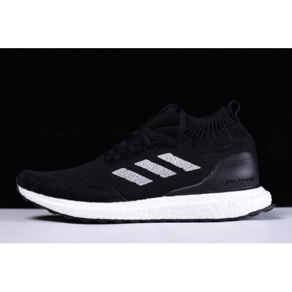 Men's New Adidas Ultra Boost Mid Black/White Shoes On Sale