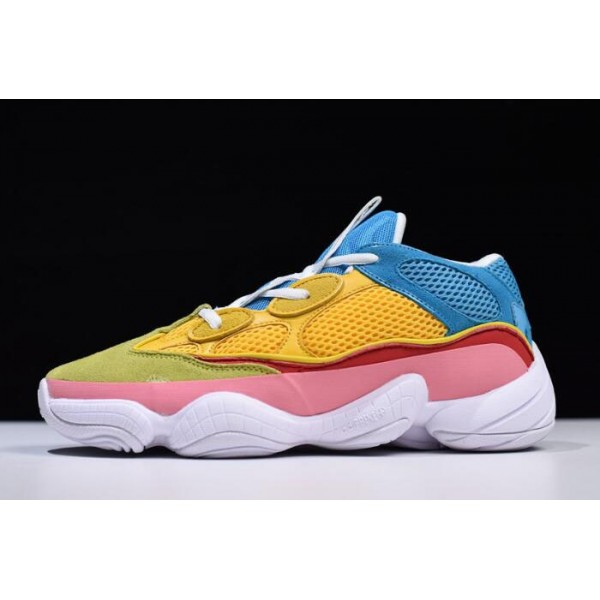 Men's/Women's Adidas Yeezy 500 Yellow/Sky Blue/Pink/White/Green