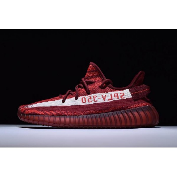 Men's/Women's Adidas Yeezy Boost 350 V2 Maroon Zebra Teach Red/White