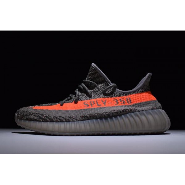 Men's/Women's Kanye West x Adidas Yeezy 350 Boost V2 Beluga Steel Grey Red