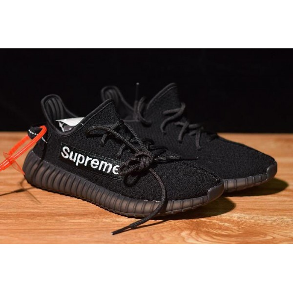 Men's/Women's Supreme x Adidas Yeezy Boost 350 V2 Black/White
