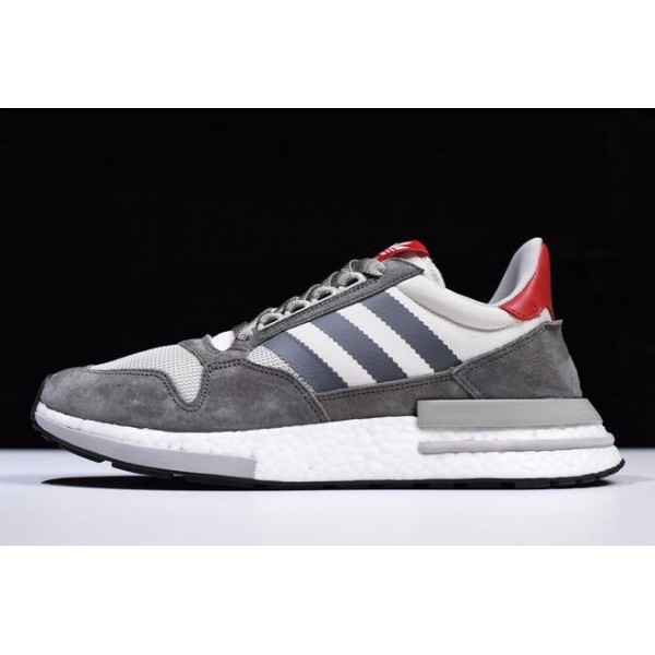 Men's Adidas ZX500 RM Boost OG Grey Four/White/Scarlet