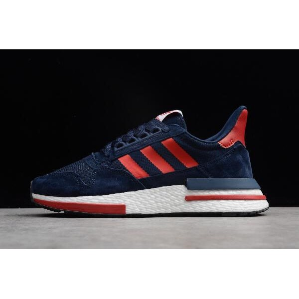Men's/Women's New Adidas ZX500 RM Boost Navy Blue/Red/White