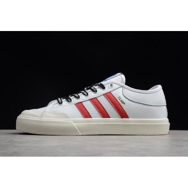 Men's/Women's Adidas Matchcourt Trap Lord Running White/Scarlet/Chalk White