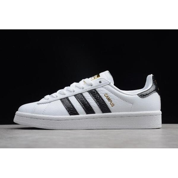 Men's/Women's Adidas Campus Unisex Leather Sneakers White Black