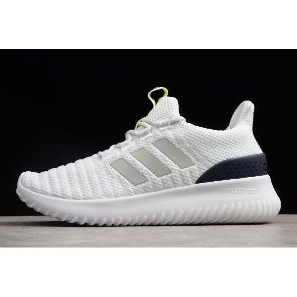 Men's Adidas Cloudfoam Ultimate Pure White/Midnight Navy