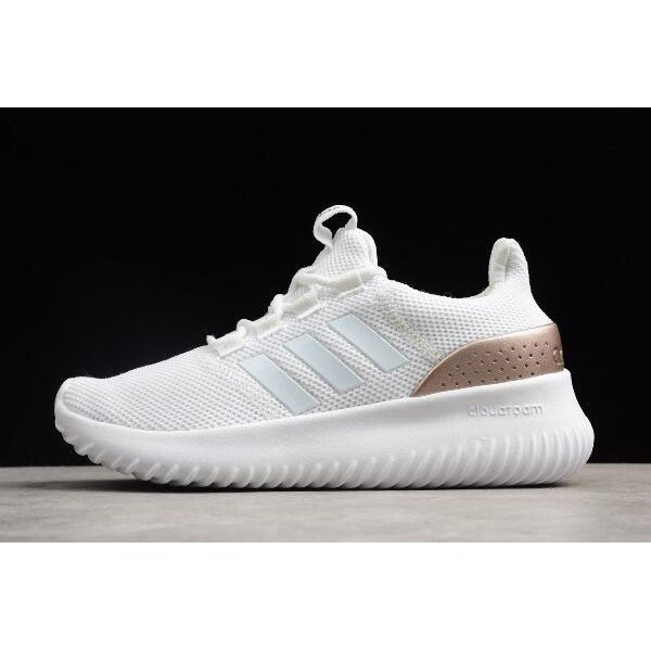Men's/Women's Adidas Cloudfoam Ultimate Pure White Rose Gold