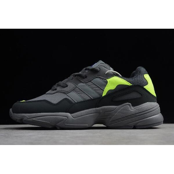 Men's/Women's Adidas Originals Yung 96 Carbon/Grey/Solar Yellow