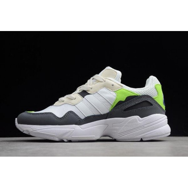 Men's/Women's Adidas Yung/96 Off White/Solar Green F97182