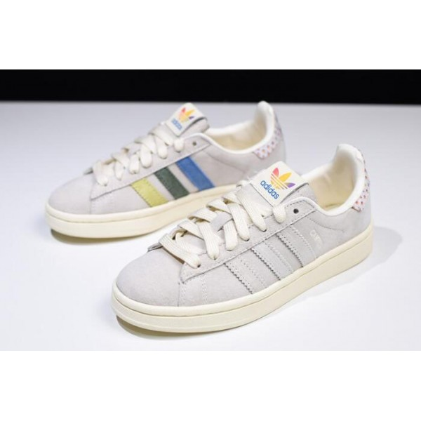 Men's/Women's New Adidas Campus Pride Multi Cream White/Trace Pink/Trace
